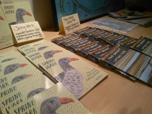 Book launch for 'Spring Ward' by Orkney children's writing group Wirdsmit, Stromness, Gabrielle Barnby