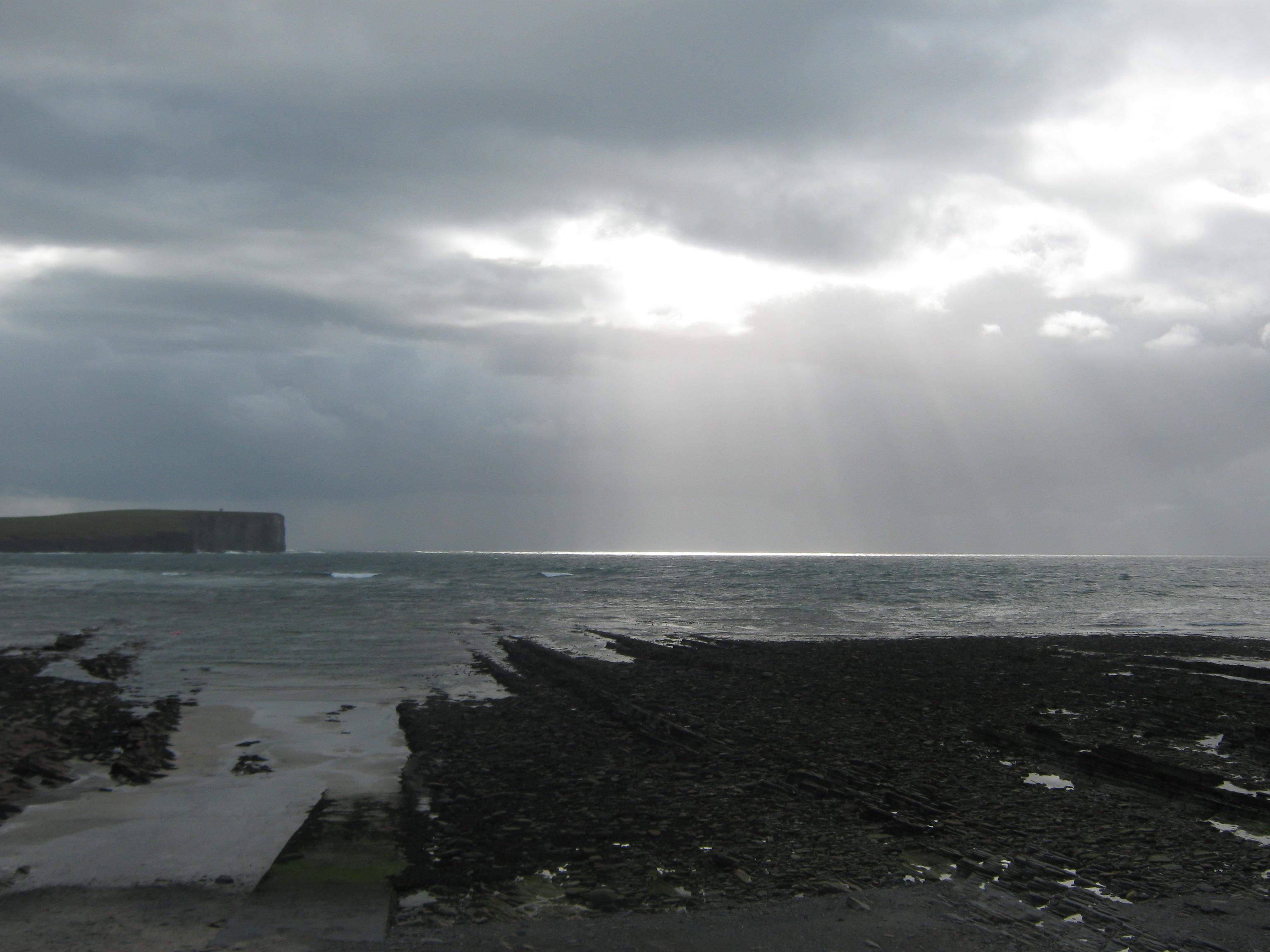 Orkney, Birsay winter sun