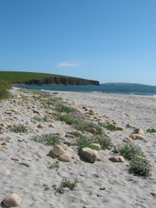 Dingieshowe. A fine place for writing in Orkney.