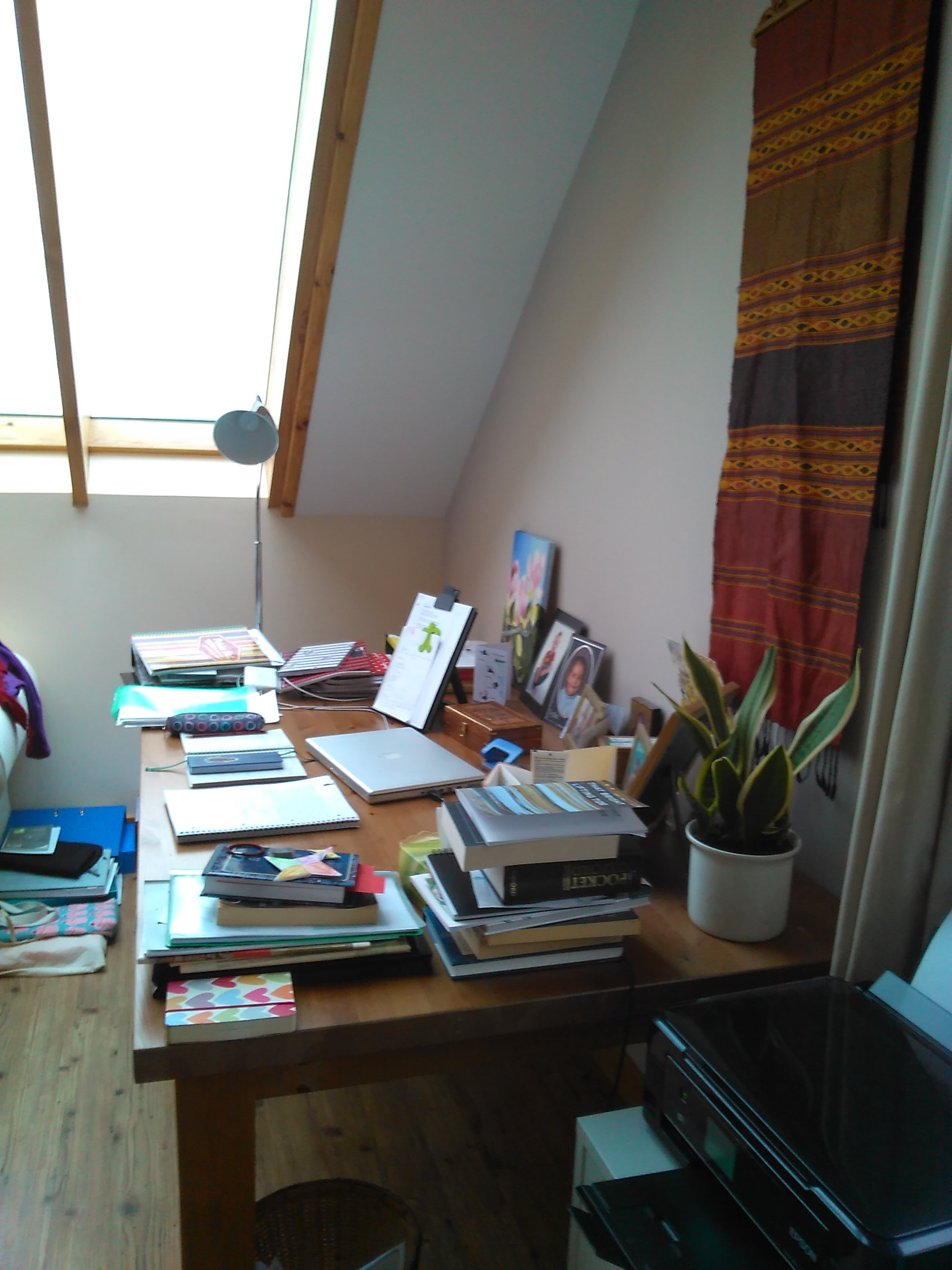 Desk - creative space of Gabrielle Barnby, Orkney short story writer