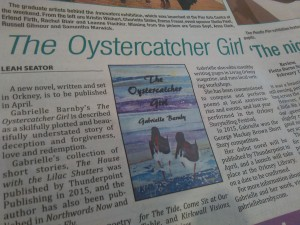 The Oystercatcher Girl, Gabrielle Barnby, Orkney, fiction, romance, Thunderpoint, press release