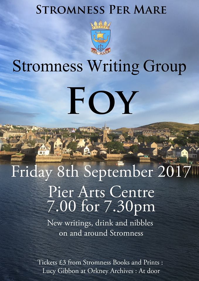 Stromness, Per Mare, Writing Group, Gabrielle Barnby, 8th September, Pier Arts Centre.