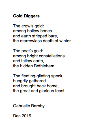 Gold Diggers, poem, Gabrielle Barnby, George Mackay Brown 20th anniversary.