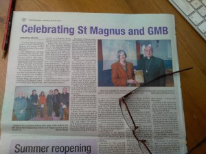 Gabrielle Barnby, George Mackay Brown 20th anniversary and St Magnus day celebrations .