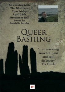 Queer Bashing Stromness launch, Tim Morrison, Gabrielle Barnby