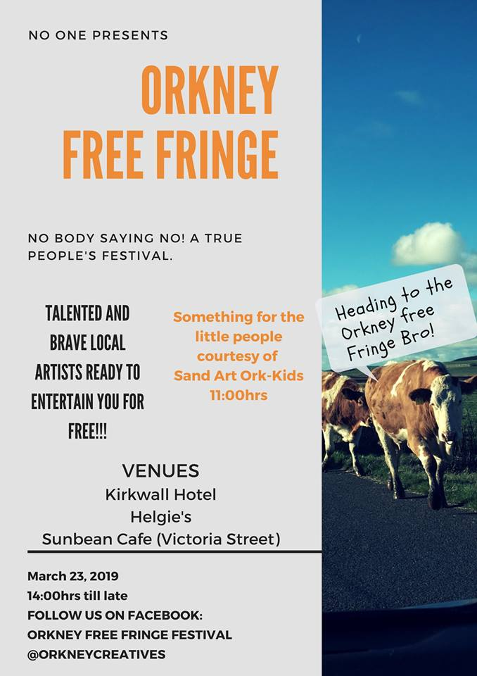 Orkney Free Fringe Festival, Gabrielle Barnby, Writer. Readings, Sunbeam Cafe, Kirkwall,