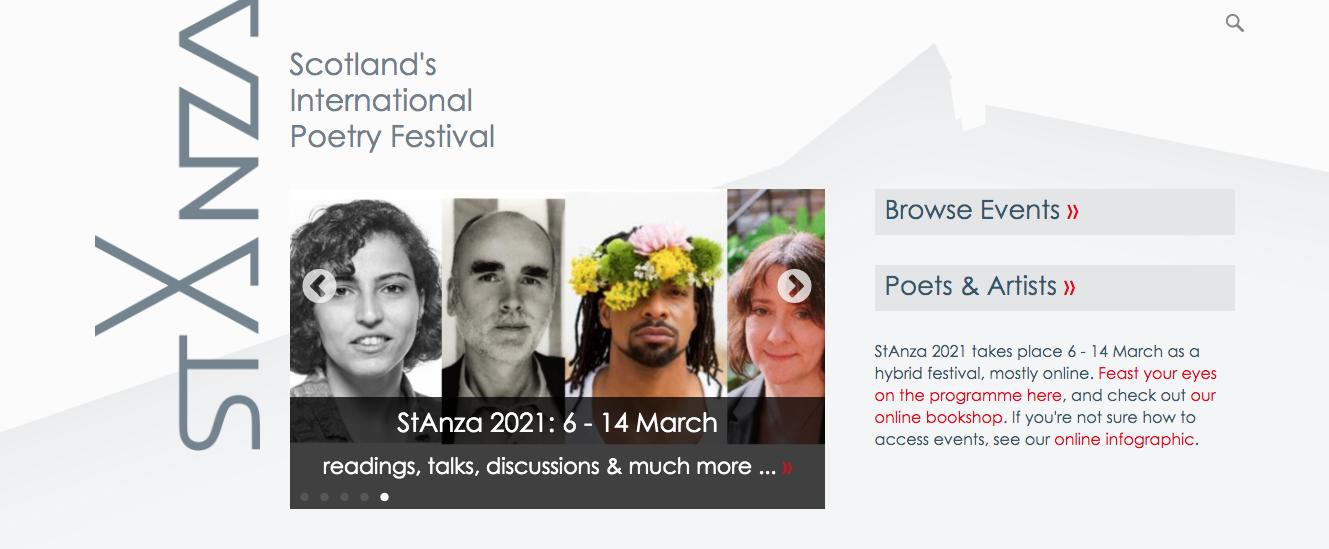 Stanza poetry festival, 2021, Scotland
