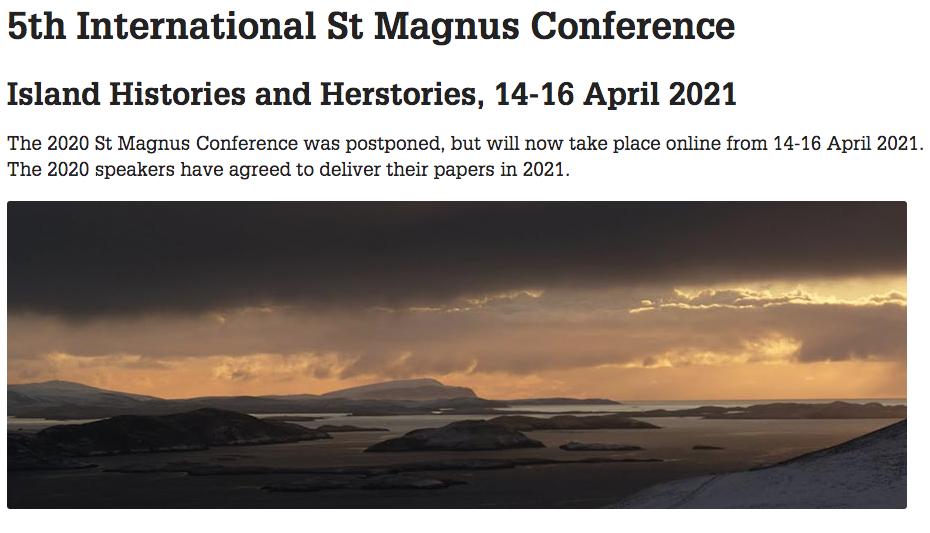 5th St Magnus Conference, Gabrielle Barnby, Bessie Skea